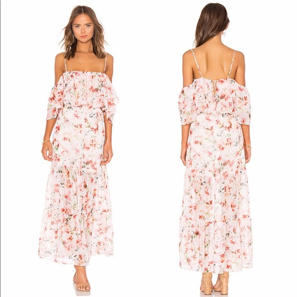 BB Dakota Dresses & Skirts - BB Dakota Floral Print Off Shoulder Maxi Dress